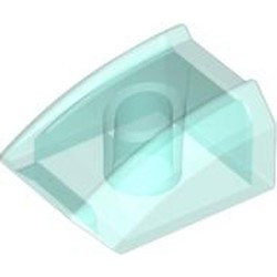 Trans-Light Blue Slope, Curved 2 x 2 Lip - used