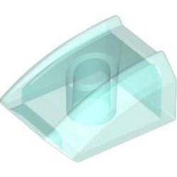 Trans-Light Blue Slope, Curved 2 x 2 Lip