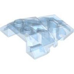 Trans-Medium Blue Wedge 4 x 4 Fractured Polygon Top