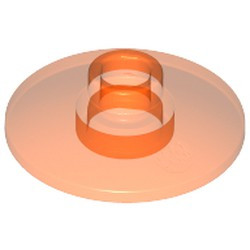 Trans-Neon Orange Dish 2 x 2 Inverted (Radar) - used