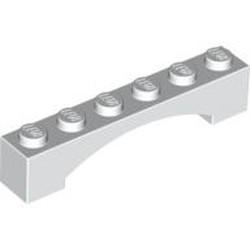 White Brick, Arch 1 x 6 Raised Arch - new