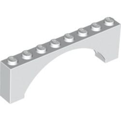 White Brick, Arch 1 x 8 x 2 Raised Arch - new