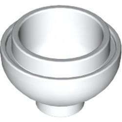 White Brick, Round 2 x 2 Dome Bottom - new