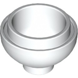 White Brick, Round 2 x 2 Dome Bottom
