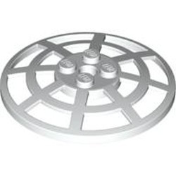 White Dish 6 x 6 Inverted (Radar) Webbed - Type 2 (underside attachment positions at 90 degrees) - used
