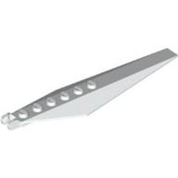 White Hinge Plate 3 x 12 with Angled Side Extensions and Tapered Ends - used