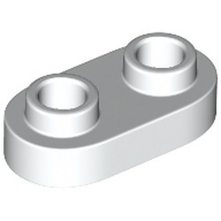 White Plate, Modified 1 x 2 Rounded with 2 Open Studs - new