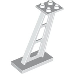 White Support 2 x 4 x 5 Stanchion Inclined, 5mm Wide Posts