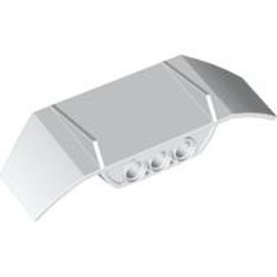 White Technic, Panel Car Spoiler 3 x 8 with Three Holes - used