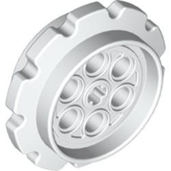 White Technic Tread Sprocket Wheel Large - new