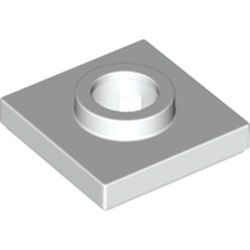 White Tile, Modified 2 x 2 with Large Hole