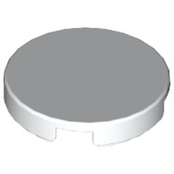 White Tile, Round 2 x 2 - used