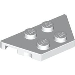 White Wedge, Plate 2 x 4 - new