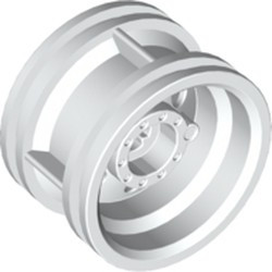 White Wheel 30.4mm D. x 20mm with No Pin Holes and Reinforced Rim
