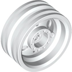White Wheel 30mm D. x 14mm (for Tire 43.2 x 14) - new