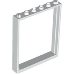 White Window 1 x 6 x 6 Flat Front - new