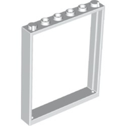 White Window 1 x 6 x 6 Flat Front