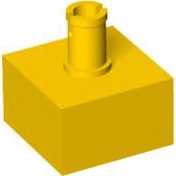 Yellow Brick, Modified 2 x 2 No Studs, Top Pin