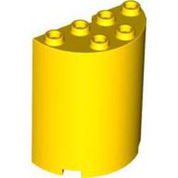 Yellow Cylinder Half 2 x 4 x 4