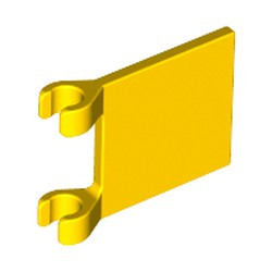 Yellow Flag 2 x 2 Square - used