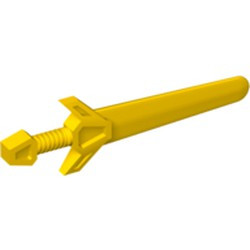 Yellow Minifigure, Weapon Sword, Greatsword Angular - used