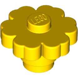 Yellow Plant Flower 2 x 2 Rounded - Solid Stud