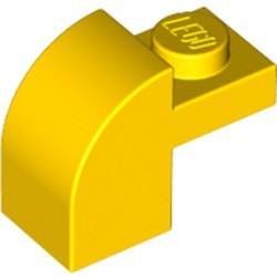 Yellow Slope, Curved 2 x 1 x 1 1/3 with Recessed Stud