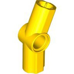 Yellow Technic, Axle and Pin Connector Angled #3 - 157.5 degrees