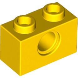 Yellow Technic, Brick 1 x 2 with Hole