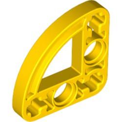 Yellow Technic, Liftarm, Modified L-Shape Quarter Ellipse Thin 3 x 3