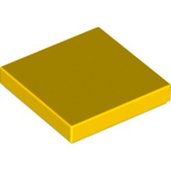 Yellow Tile 2 x 2 with Groove