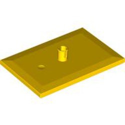 Yellow Train Bogie Plate (Tile, Modified 6 x 4 with 5mm Pin) - used