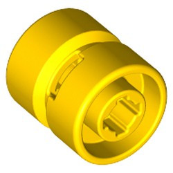 Yellow Wheel 11mm D. x 12mm, Hole Notched for Wheels Holder Pin