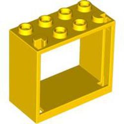 Yellow Window 2 x 4 x 3 Frame - Hollow Studs - used