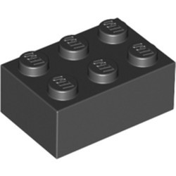 Black Brick 2 x 3