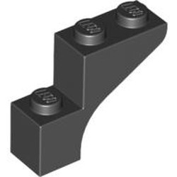 Black Brick, Arch 1 x 3 x 2 - used