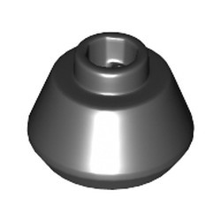 Black Cone 1 1/2 x 1 1/2 x 2/3 Truncated