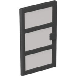 Black Door 1 x 4 x 6 with 3 Panes with Trans-Black Glass