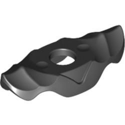 Black Minifigure Armor Shoulder Pads with Ridges