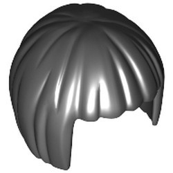 Black Minifigure, Hair Short, Bob Cut - used
