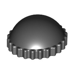 Black Minifigure, Headgear Cap, Knit - used