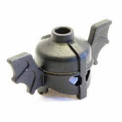 Black Minifigure, Headgear Helmet with Bat Wings - used