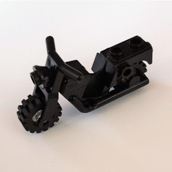 Black Motorcycle Town with Trans-Clear Wheels - used