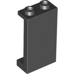 Black Panel 1 x 2 x 3 with Side Supports - Hollow Studs - new