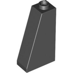 Black Slope 75 2 x 1 x 3 - Hollow Stud