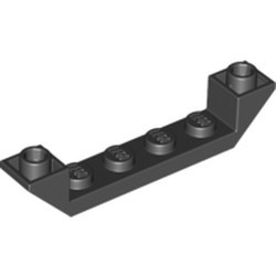 Black Slope, Inverted 45 6 x 1 Double with 1 x 4 Cutout