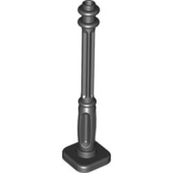 Black Support 2 x 2 x 7 Lamp Post, 4 Base Flutes