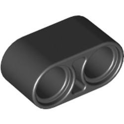 Black Technic, Liftarm 1 x 2 Thick - used