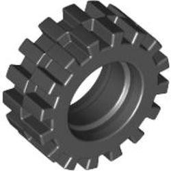 Black Tire 15mm D. x 6mm Offset Tread Small