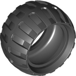 Black Tire 43.2mm D. x 26mm Balloon Small